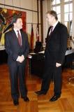 Klaus Wowereit, Sir Michael Arthur Image libre de droits