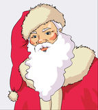 klausa纵向圣诞老人 图库摄影