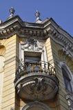 Klausenburg-Napoca RO, am 24. September: Details des historischen Gebäudes in Klausenburg-Napoca von Siebenbürgen-Region in Rumän Stockbild