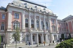 Klausenburg-Napoca RO, am 24. September: Gerichtshof Gebäude in Klausenburg-Napoca von Siebenbürgen-Region in Rumänien Lizenzfreie Stockfotografie