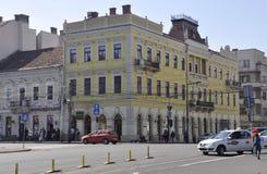 Klausenburg-Napoca RO, am 24. September: Historisches Gebäude in Klausenburg-Napoca von Siebenbürgen-Region in Rumänien Lizenzfreie Stockfotos