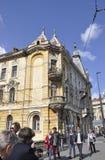 Klausenburg-Napoca RO, am 24. September: Historisches Gebäude in Klausenburg-Napoca von Siebenbürgen-Region in Rumänien Stockfoto