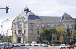 Klausenburg-Napoca RO, am 24. September: Historisches Gebäude in Klausenburg-Napoca von Siebenbürgen-Region in Rumänien Lizenzfreies Stockfoto