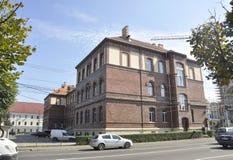 Klausenburg-Napoca RO, am 24. September: Historisches Gebäude in Klausenburg-Napoca von Siebenbürgen-Region in Rumänien Stockfotografie