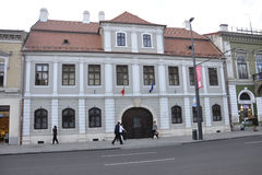 Klausenburg-Napoca RO, am 24. September: Nemes-Haus in Klausenburg-Napoca von Siebenbürgen-Region in Rumänien Stockbilder