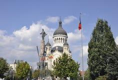 Klausenburg-Napoca RO, am 24. September: Orthodoxe Stadtkathedrale in Klausenburg-Napoca von Siebenbürgen-Region in Rumänien Stockfotografie