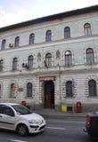 Klausenburg-Napoca RO, am 24. September: Post-Gebäude in Klausenburg-Napoca von Siebenbürgen-Region in Rumänien Stockfotografie