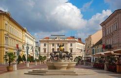 Klauzal Squarre - Szeged, Hungría Imágenes de archivo libres de regalías