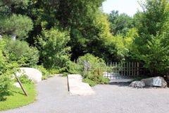 Klauzura przy ogródami Fotografia Royalty Free