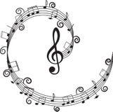 klavdesignmusik bemärker din treble Royaltyfri Fotografi