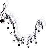 klavdesignmusik bemärker din treble vektor illustrationer