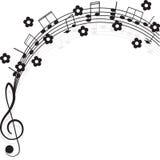 klavdesignmusik bemärker din treble Arkivfoto