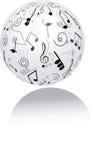 klavdesignmusik bemärker din treble Arkivfoton