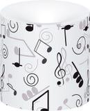 klavdesignmusik bemärker din treble Arkivbild