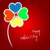 Klaverblad met kleurrijke bloemblaadjes Royalty-vrije Stock Afbeelding