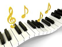 Klavier über Hintergrund Stockfoto