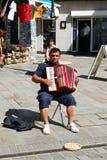 Klavier-Akkordeonspieler, Gibraltar Stockfotos