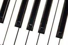 Klavier befestigt große Ansicht Lizenzfreie Stockbilder