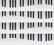 Klavier befestigt Hintergrund lizenzfreie abbildung