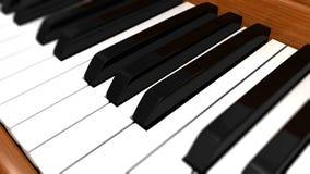 Klavier befestigt Nahaufnahme lizenzfreies stockfoto
