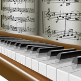 Klavier-Musik AnmerkungMelodie Lizenzfreie Stockfotografie