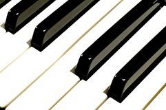 Klavier-Schlüssel lizenzfreie stockfotografie