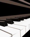 Klavier-Tastatur Stockfoto
