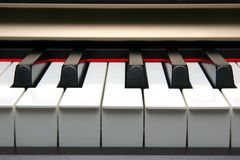 Klavier-Tastaturstirnseite Stockfotos