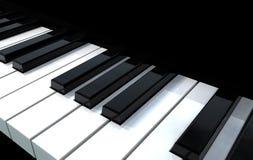 Klavier-Tasten stock abbildung