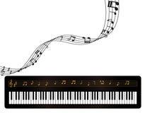 Klavier-und Musik-Anmerkungen Lizenzfreie Stockfotos