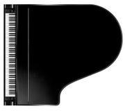 Klavier von oben Lizenzfreie Stockbilder