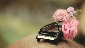 Klavierblumenflusshintergrund hd Gesamtlänge niemand stock footage