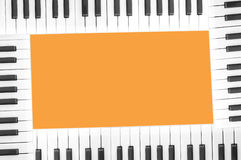 Klavierfeld Lizenzfreies Stockbild