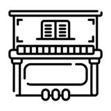Klavierikone lizenzfreie abbildung