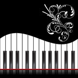 Klavierillustration Lizenzfreies Stockbild