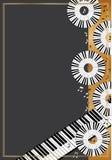 Klavierkreis-Scheibenkarte Stockbild
