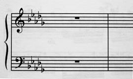 Klaviermusicalpersonal Lizenzfreies Stockbild