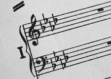Klaviermusicalpersonal Lizenzfreie Stockfotografie