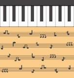 Klaviermusik Stockbild