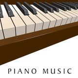 Klaviermusikhintergrund Stockfotos