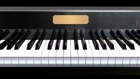 Klaviernahaufnahme Lizenzfreie Stockfotos