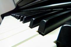 Klaviernahaufnahme Stockfotografie