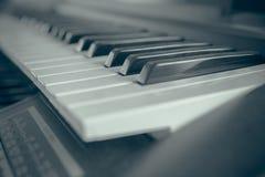 Klavierschlüssel stockfoto