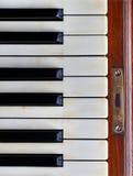 Klavierschlüssel eines alten deutschen Klaviers Lizenzfreie Stockbilder