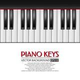 Klavierschlüssel, Vektorhintergrund Lizenzfreie Stockfotos