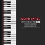 Klavierschlüssel, Vektorhintergrund Stockfotografie