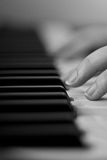 Klavierspielen Stockfotografie