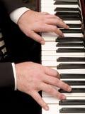 Klavierspieler Stockfotografie