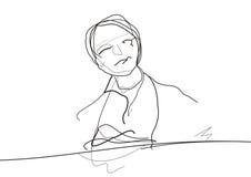 Klavierspieler Lizenzfreies Stockbild