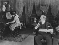 Klavierstunden Stockfotografie